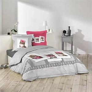 Parure Couette Enfant : parure de lit chaton achat vente parure de lit chaton ~ Teatrodelosmanantiales.com Idées de Décoration