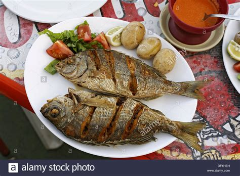 kitchen cart and island typical fish dishes black bream with papas arrugadas