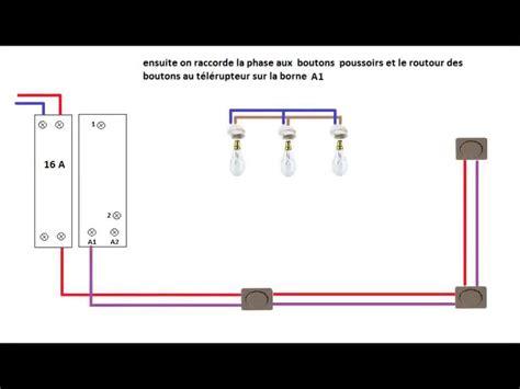 schema electrique telerupteur unipolaire youtube