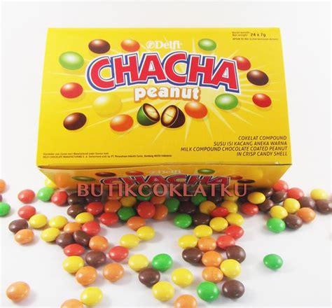 jual coklat kiloan delfi chacha peanut  gr cokelat