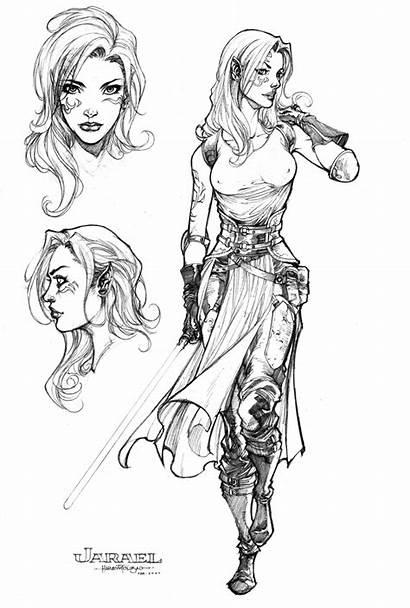 Character Deviantart Jarael Reference Female Drawings Elf