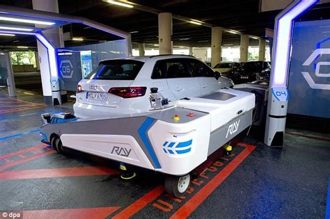 valet parking düsseldorf robot helps drivers fit into tight bays but would you