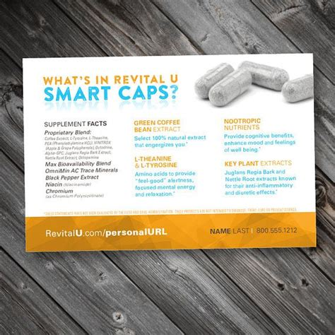 There is nothing spooky about this amazing smart brew. 4x6 Ingredients POSTCARD Revital U Smart CAPS   Smart, Ingredients, Mood enhancers