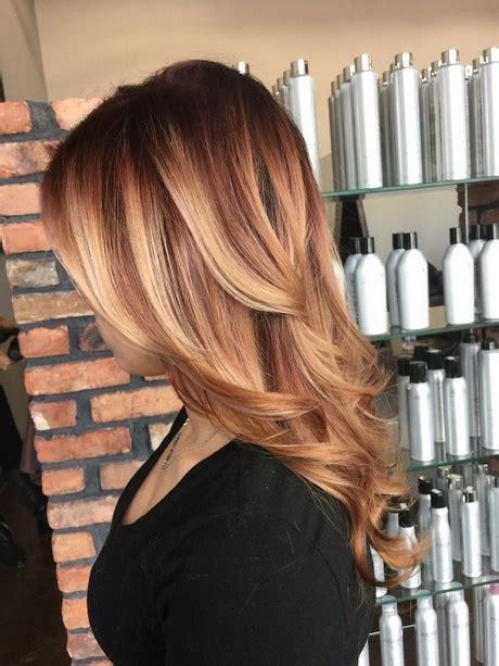 braun auf caramel färben trendige haarfarben 2018