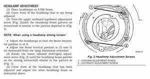 Headlight Adjustment Question