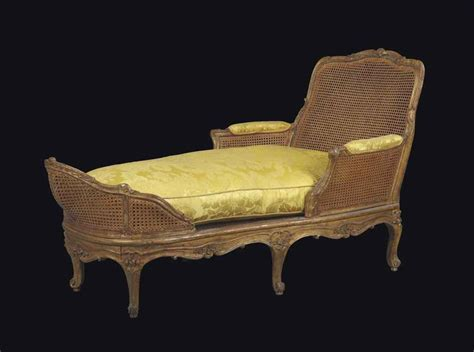 chaise cannée louis xv chaise longue d 39 epoque louis xv estampille de michel