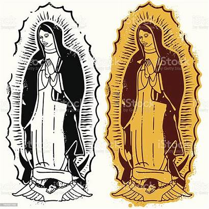 Virgin Mary Guadalupe Illustrations Illustration Vector Clip
