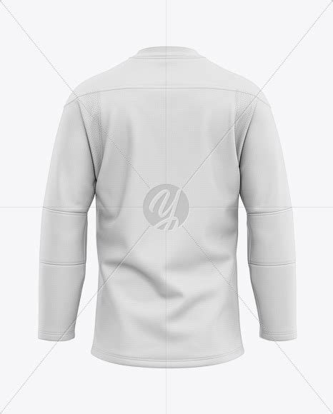 You will be provided with 5 special features entirely for free! Men's Lace Neck Hockey Jersey Mockup - Back View in ...