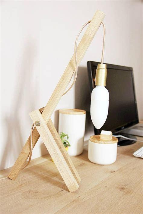 luminaire pour bureau diy créer une le en bois pour le bureau les en