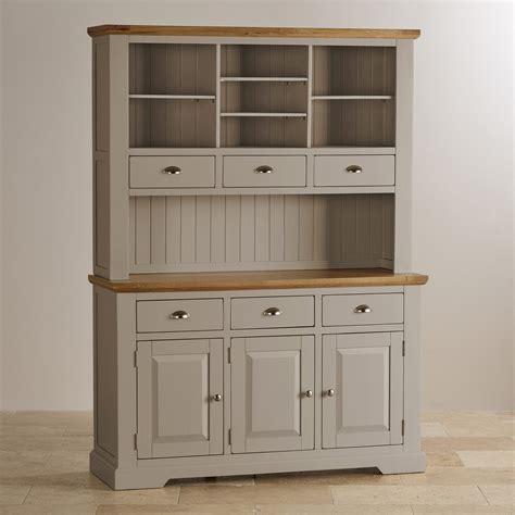 st ives large grey dresser  brushed oak top