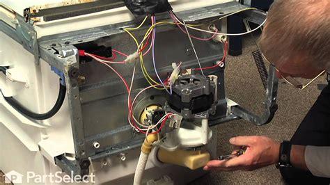 dishwasher repair replacing  motor  pump kit ge part wdx youtube