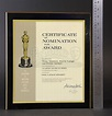 Art Direction Academy Award Certificate of Nomination ...