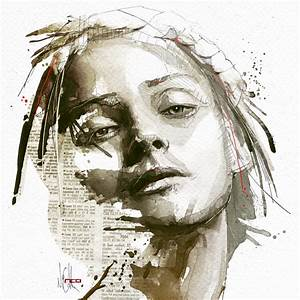 Mixed media portraits by florian nicolle culture scribe for Mixed media portraits by florian nicolle