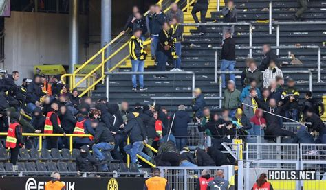 dortmund  schalke hooligans clash  westfalenstadion