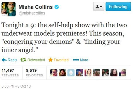 misha collins on the end and i