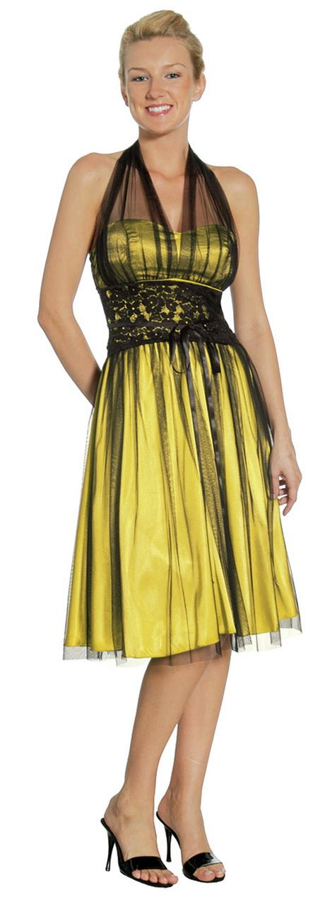 robe jaune et noir black and yellow dress