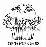 Cupcake Coloring Printable sketch template
