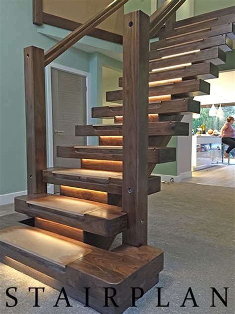 walnut staircases black walnut  vision staircase