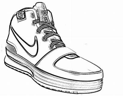 Drawing Nike Drawings Sketch Coloring Creative Jordan