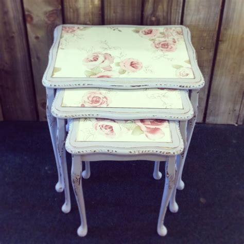 shabby chic nesting tables pin by salma sabet on vintage pinterest