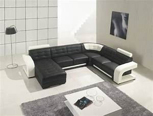 Two toned leather sectional sofa with tufted chaise for Sectional sofa or two sofas