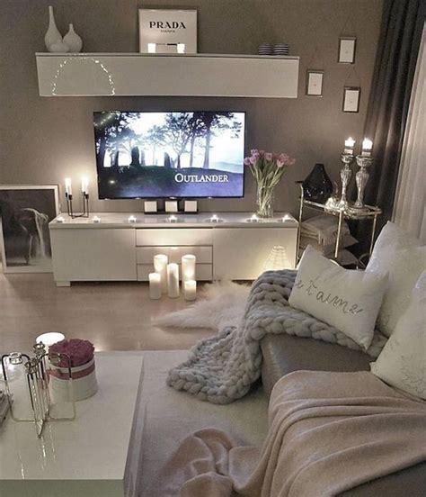 cozy tv stand area  romantic decor homemydesign