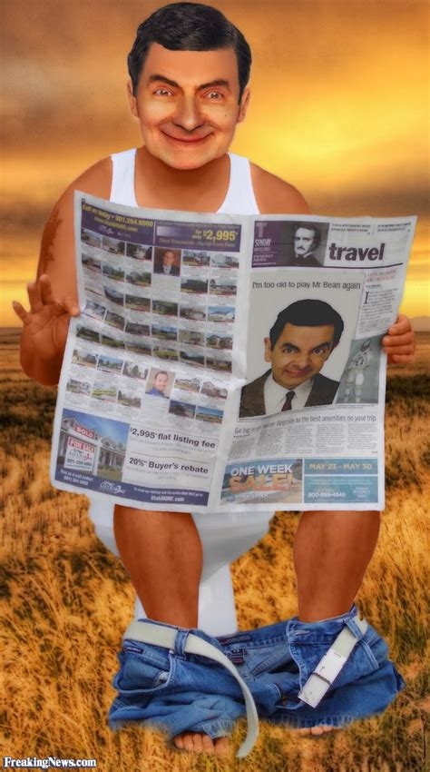 mr bean toilet mr bean reading the paper on the toilet pictures