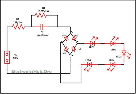mains operated led light circuit working  advantages