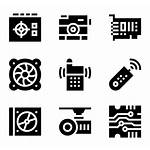 Hardware Icons Computer Vector