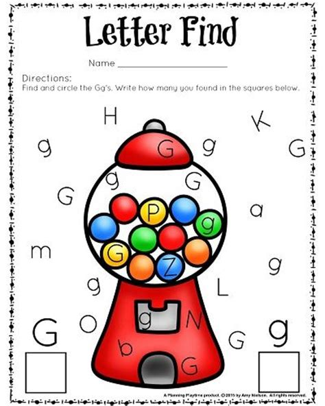 cute letter find worksheets with a freebie kindergarten