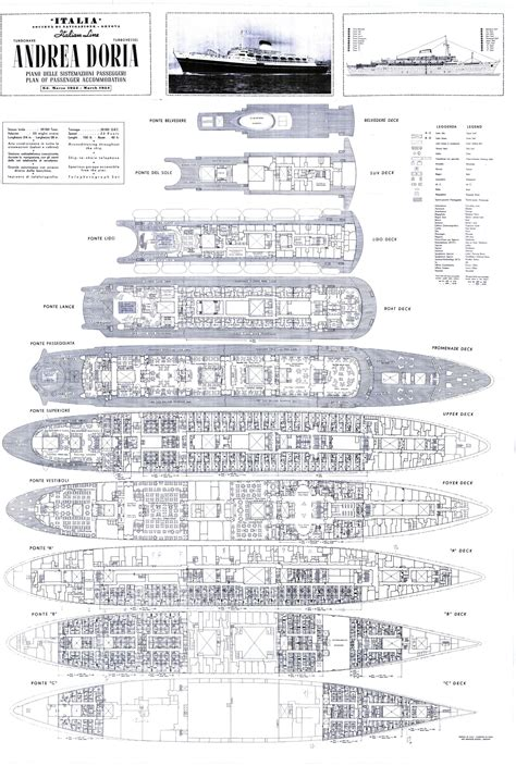 Titanic 2 Deck Plans by A Grate Day On The Andrea Doria