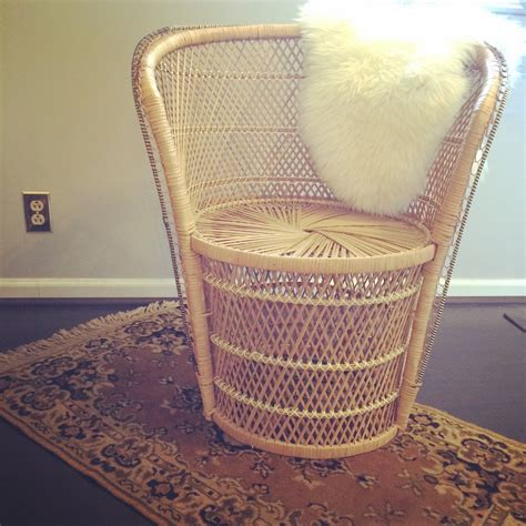 vintage wicker barrel chair haute juice