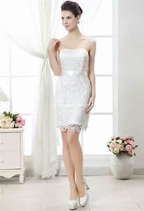 Robe Courte Mariée : robe de mariee courte en dentelle pas cher ~ Melissatoandfro.com Idées de Décoration