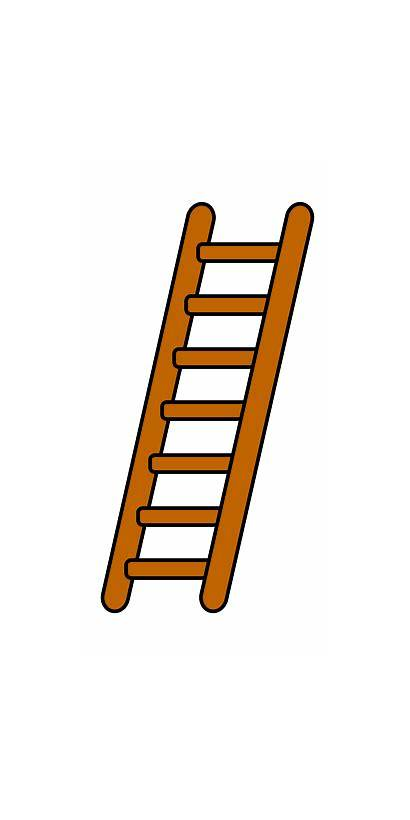 Ladder Cartoon Drawing Draw Cartoons Step Funny