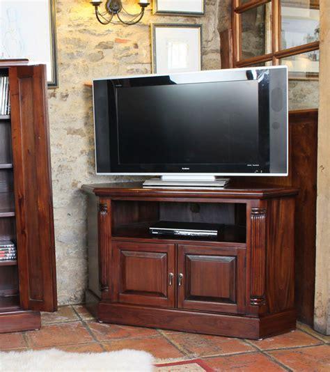 mahogany corner television cabinet