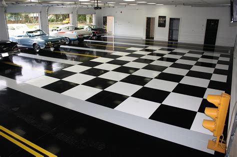 checkered garage floor tiles take a look at these sweet garages chrysler 300c forum