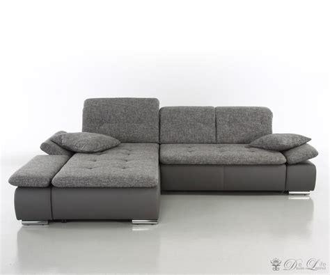 sofa mit hoher rã ckenlehne mit verstellbarer rückenlehne jakery in schwarz anthrazit mit verstellbarer r
