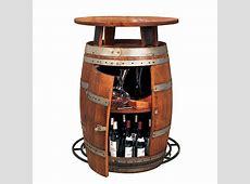 Vintage Oak Wine Barrel Bistro Table Wine Enthusiast