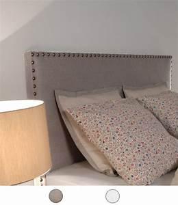 Tete De Lit En Lin : t te de lit en imitation lin clout e personnalisable 8 tailles au choix ~ Teatrodelosmanantiales.com Idées de Décoration