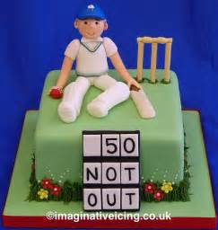 Black 50th Birthday Decorations by Yorkshire Cricket Player Birthday Cake Imaginative Icing