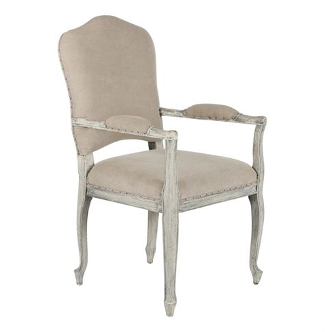 country camel back gray dining arm chair