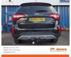nissan xtrail 2014 onwards witter fixed flange tow bar