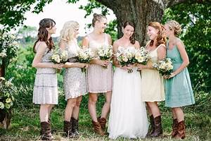 country wedding bridesmaid dresses with cowboy boots With country wedding bridesmaid dresses