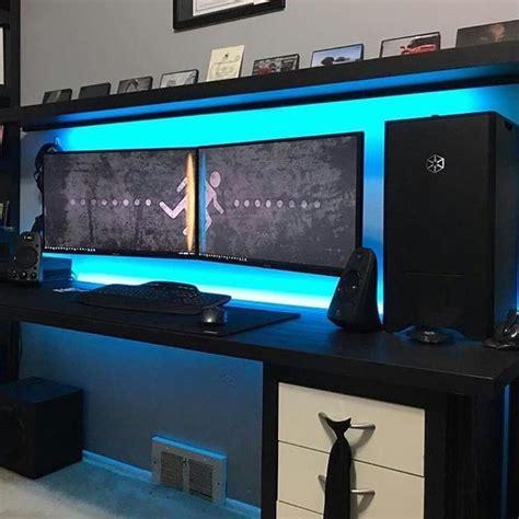 pc bureau gamer grand bureau design etabli industriel bureau