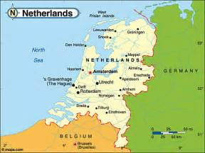 Map Countries Holland Netherlands