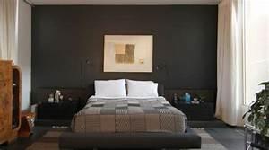 Dunkle Farbe überstreichen : schlafzimmerwand gestalten 40 wundersch ne vorschl ge ~ Lizthompson.info Haus und Dekorationen