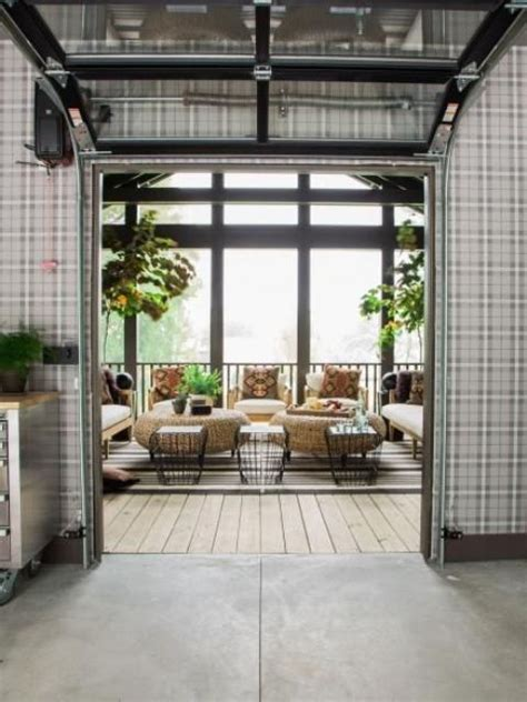 glass garage door ideas  rock   interiors