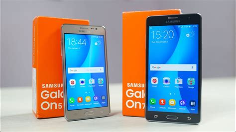 samsung galaxy on5 on7 unboxing youtube