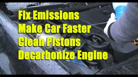 How To Decarbonise Your Engine With Tap Water  Youtube