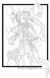 Lineart Anime sketch template